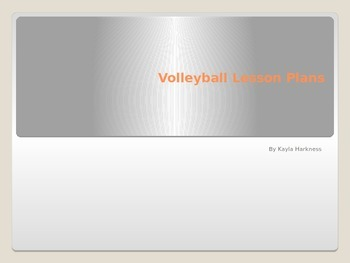 Volleyball Lesson Plans