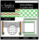 Volleyball Mini Clipart Bundle {A Hughes Design}