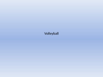 Volleyball Notes PowerPoint