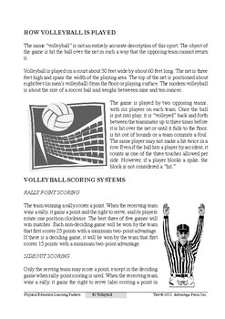 Volleyball Packet