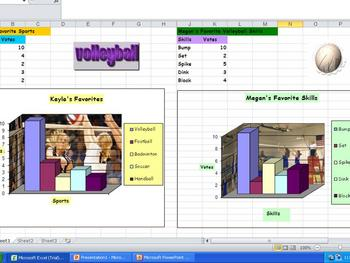 Volleyball Pictograph - Adding Pictures Into a Chart Using Excel