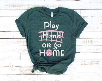 Volleyball Play hard or go Home svg tackle valentine valentine's day 1251S