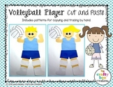Volleyball Player Cut and Paste