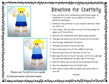 Sports Craft {Volleyball Player}