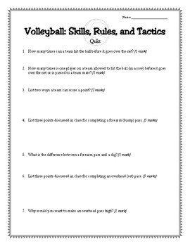 volleyball worksheet answer key kidz activities. Black Bedroom Furniture Sets. Home Design Ideas
