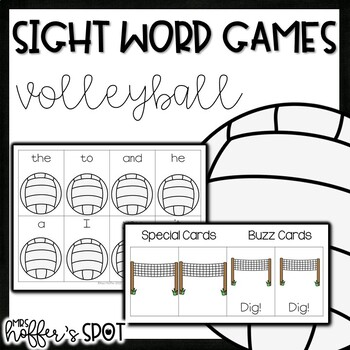 Volleyball Sight Word Games