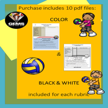Volleyball Skill Physical Education Rubric Bundle