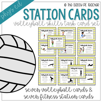 Volleyball Station Task Cards