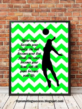 Volleyball Coaching Quote, Volleyball Coach Gift Idea, Printable Poster