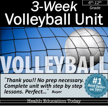 3-Week Volleyball Unit: From the #1 P.E. Curriculum on TPT!