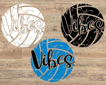 Volleyball Vibes svg grunge ball Mom Vibes vintage Sayings Game Day svg 1003S