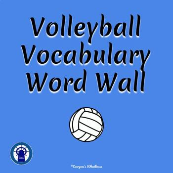 Volleyball Vocabulary Word Wall