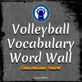 Volleyball Vocabulary Word Wall Chalkboard Theme