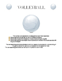 Volleyball Worksheet (use with Volleyball Handout)