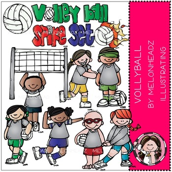 Volleyball clip art - COMBO PACK- by Melonheadz