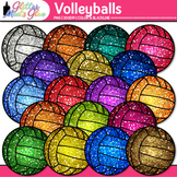 Rainbow Volleyball Clip Art {Sports Equipment for Physical