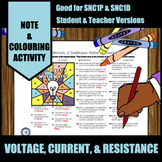 Voltage, Current, & Resistance