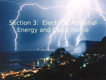 Voltage, Energy, and Capacitors - Notes