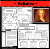 VOLTAIRE Research Project Timeline Poster Biography Graphic Organizer Notes