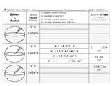 Volume 01: Volume of Spheres and Changing Radius' Effect on Volume + QUIZ