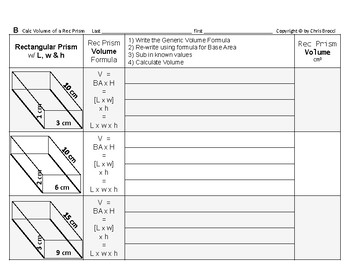 Volume 05: Volume of Rectangular Prisms + How Changing L,w & H Affects Volume