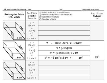 Volume 05: Volume of Rectangular Prisms + How Changing L,w
