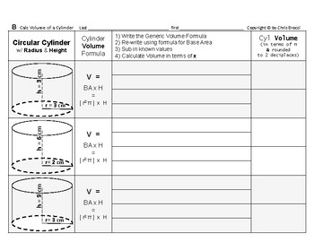 Volume 09: Volume of Cylinders and Radius & Height's Effect on Volume  + QUIZ