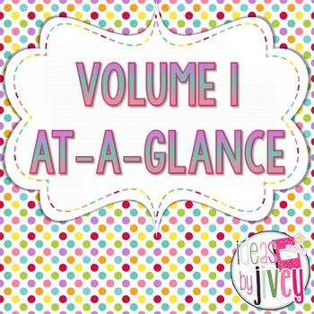 Volume 1 At-A-Glance (Mentor Sentences & Better Than Basal Reading/Writing)
