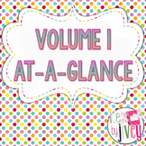 Volume 1 At-A-Glance (Mentor Sentences & Better Than Basal Reading/Writing)