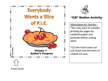 Volume 1:  Everybody Wants a Slice of PIE- Author's Purpose