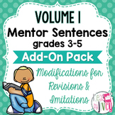 Volume 1 Grades 3-5 Mentor Sentences Modifications ADD-ON Pack