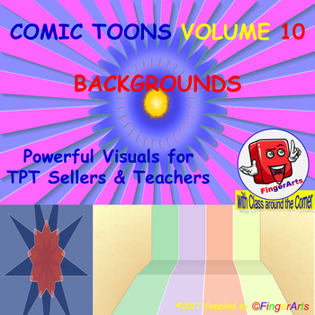Volume 10 COMIC BACKGROUNDS for TPT Sellers / Creators / Teachers
