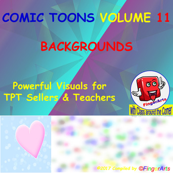 Volume 11 COMIC BACKGROUNDS for TPT Sellers / Creators / Teachers