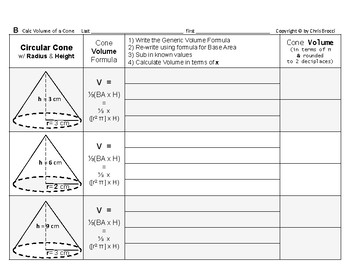 Volume 11: Volume of Cones + How Radius & Height Affects Volume