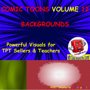 Volume 12 COMIC BACKGROUNDS for TPT Sellers / Creators / Teachers