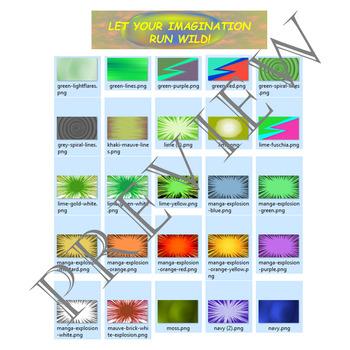 Volume 12 COMIC BACKGROUNDS for TPT Sellers / Creators / Teachers