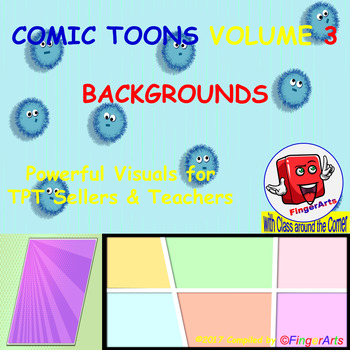 Volume 13 COMIC BACKGROUNDS for TPT Sellers / Creators / Teachers