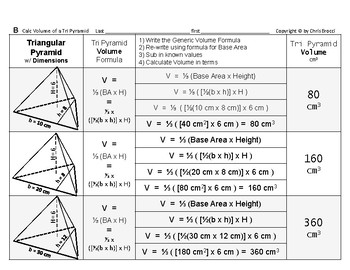Volume 13: Volume of Triangular Pyramids and Base Area & Height's Effect  + QUIZ