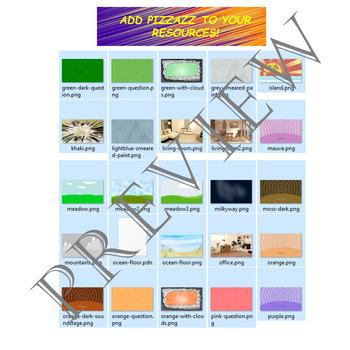 Volume 14 COMIC BACKGROUNDS for TPT Sellers / Creators / Teachers