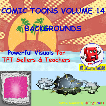 Volume 14 COMIC BACKGROUNDS for TPT Sellers / Creators / Teachers