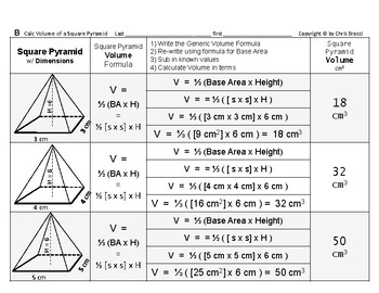 Volume 15: Volume of Square Pyramids + How Base Side & Height Affects Volume