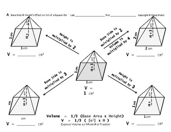Volume 16: Calc Volume + Base Side & Height's Effect on Vo