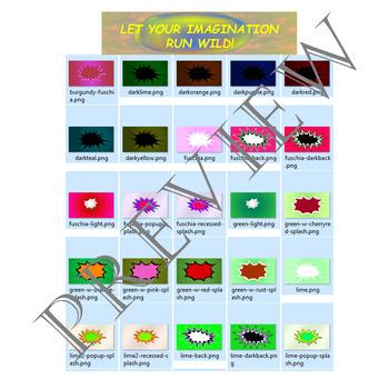 Volume 16 COMIC BACKGROUNDS for TPT Sellers / Creators / Teachers