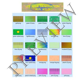 Volume 17 COMIC BACKGROUNDS for TPT Sellers / Creators / Teachers