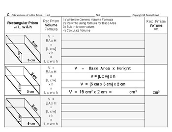 Volume 17: Calculate Volume of Common Three Dimensional Geometric Solids Shapes