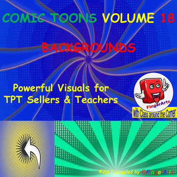 Volume 18 COMIC BACKGROUNDS for TPT Sellers / Creators / Teachers