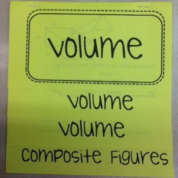 Volume Flip Book Foldable