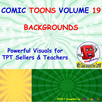 Volume 19 COMIC BACKGROUNDS for TPT Sellers / Creators / Teachers