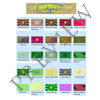 Volume 19 COMIC BACKGROUNDS for TPT Sellers / Creators / Teachers