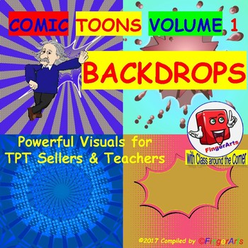 Volume 2 COMIC BACKDROPS for TPT Sellers / Creators / Teachers